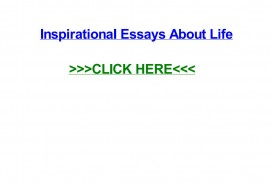 007 Essay Example Page 1 Inspirational Breathtaking Essays About Life And Struggles For Youth