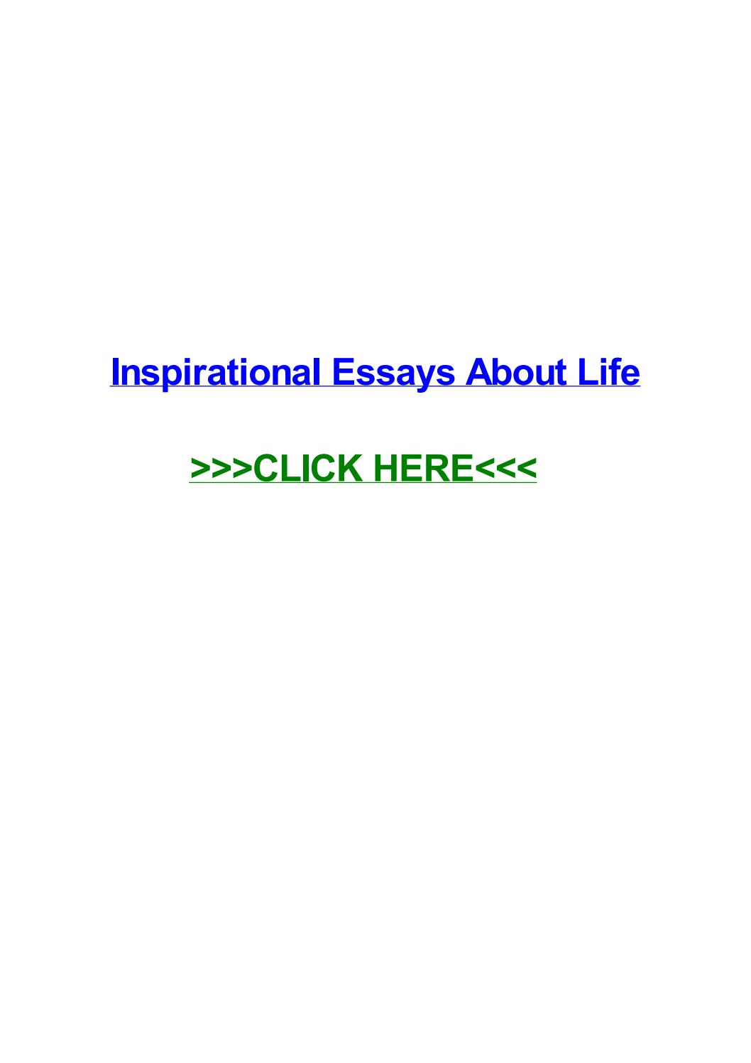 007 Essay Example Page 1 Inspirational Breathtaking Essays About Life And Struggles For Youth Full