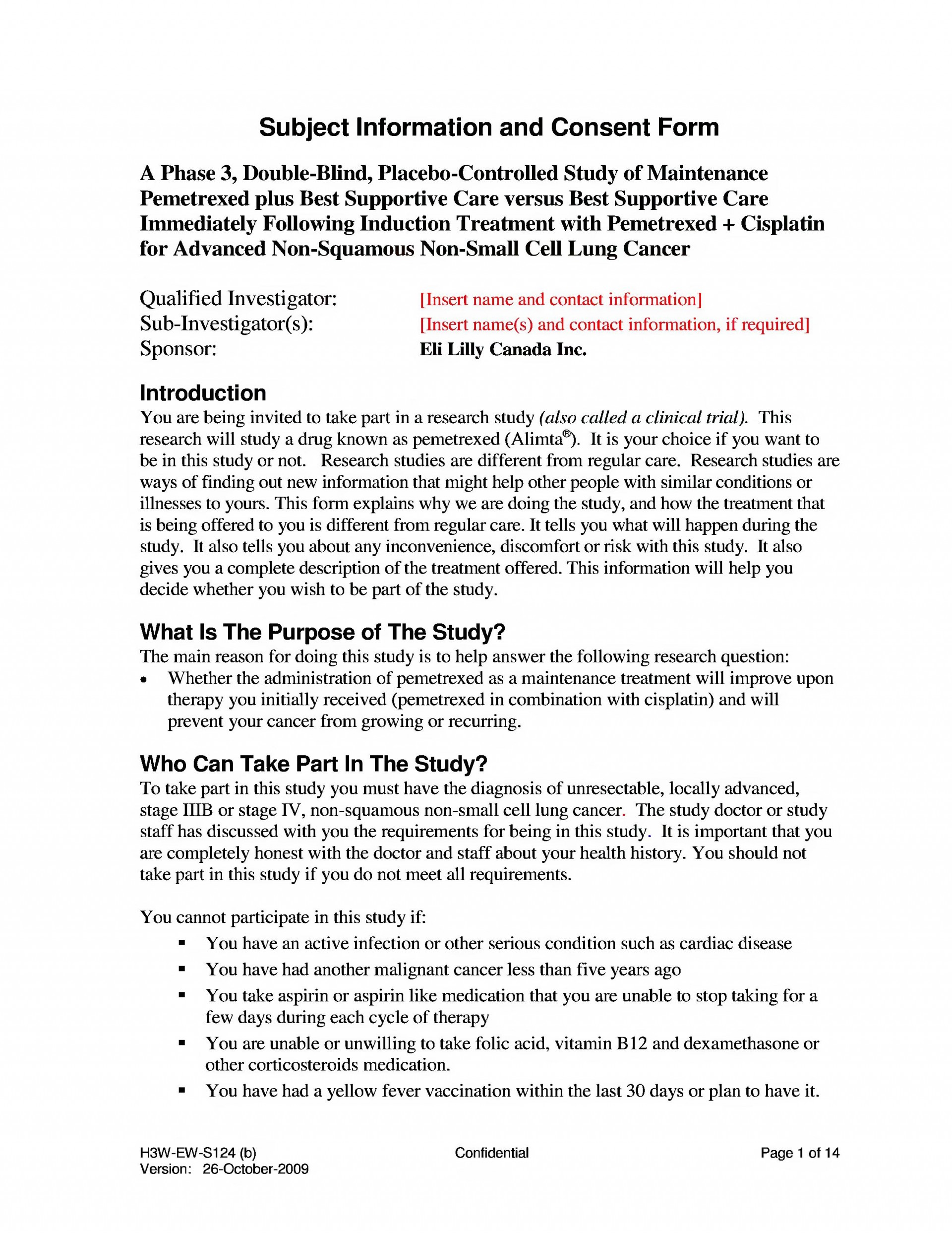 007 Essay Example Page1 2550px Paramount Eli Lilly Informed Consent Document Djvu Beautiful Concussion Outline Examples Conclusion 1920