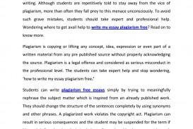 007 Essay Example Plagiarism Free Essays Page 1 Impressive 100 Check
