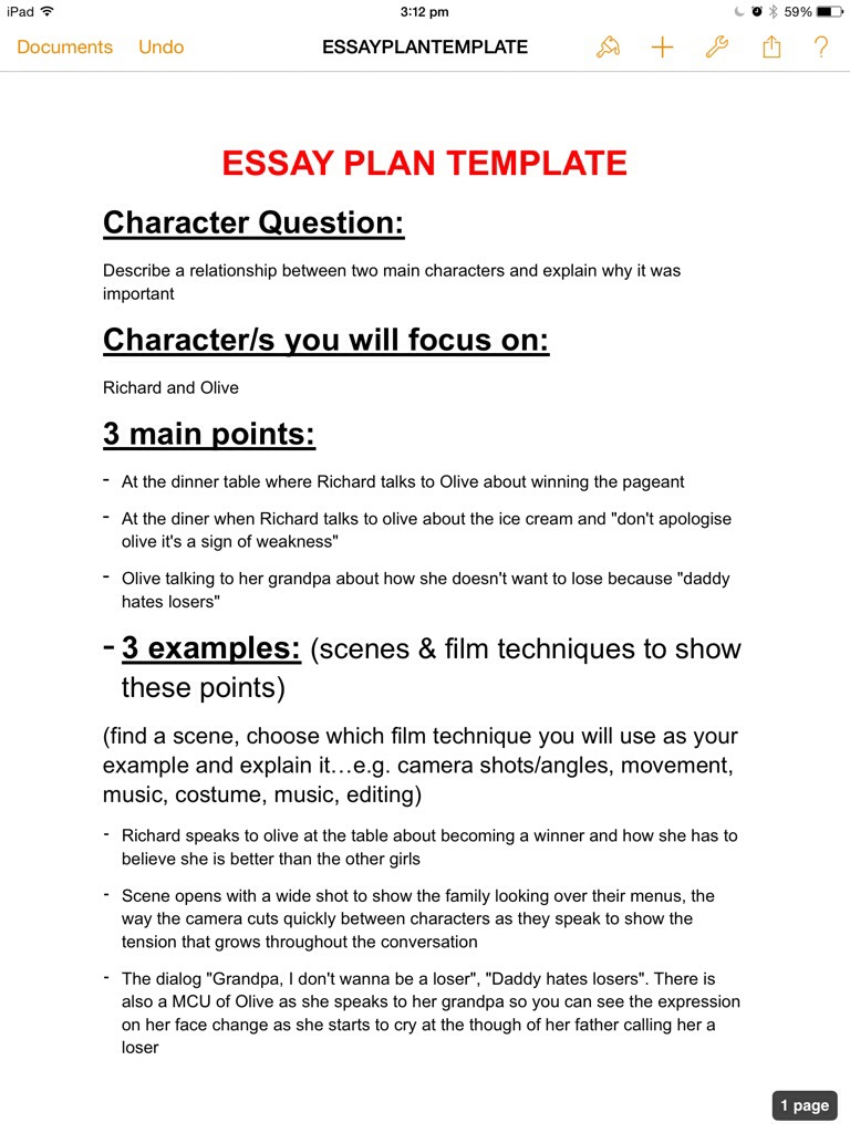 007 Essay Example Plan Stirring Template Word Planning Sheet Critical Full