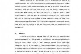 007 Essay Example Reader Amazing Response On The Story Of An Hour Examples Definition