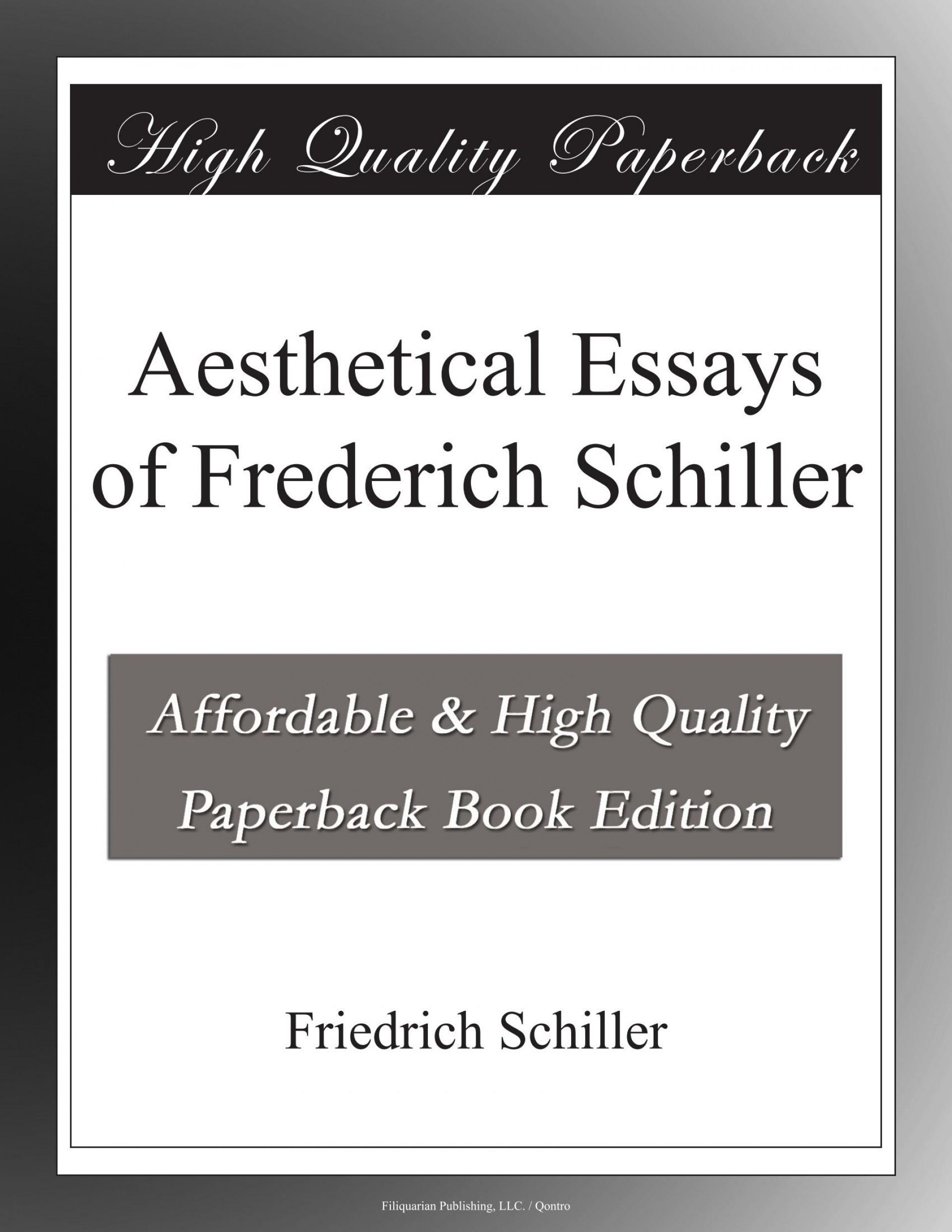 007 Essay Example Schiller Essays Awful Friedrich 1920