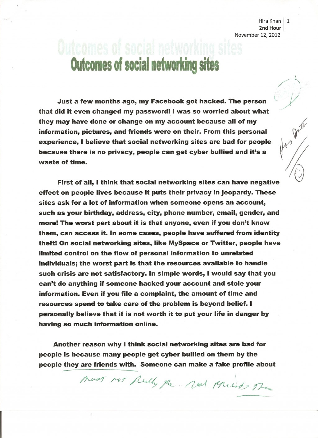 007 Essay Example Social Networking 1 Opinion About Fast Unbelievable Food Is A Good Alternative To Cooking For Yourself An British Council Large