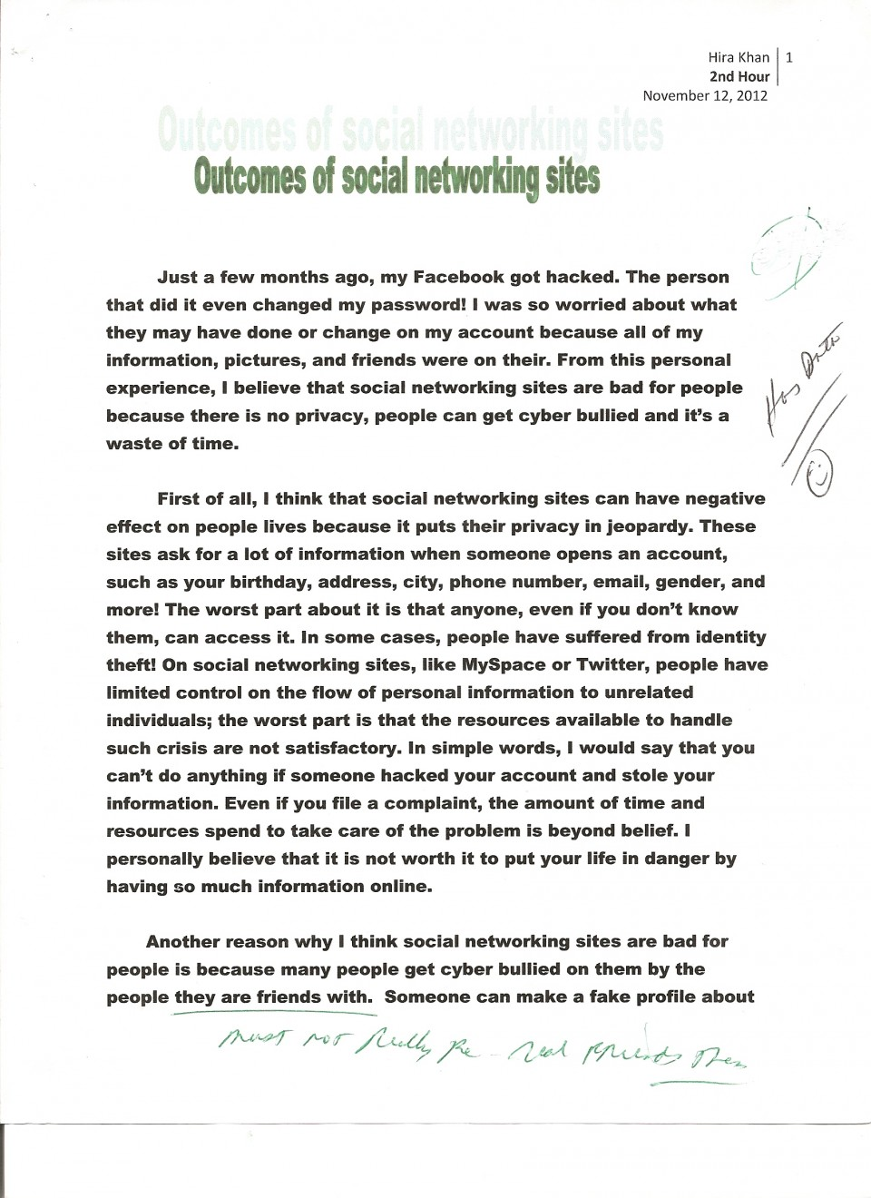 007 Essay Example Social Networking 1 Opinion About Fast Unbelievable Food Restaurants 960