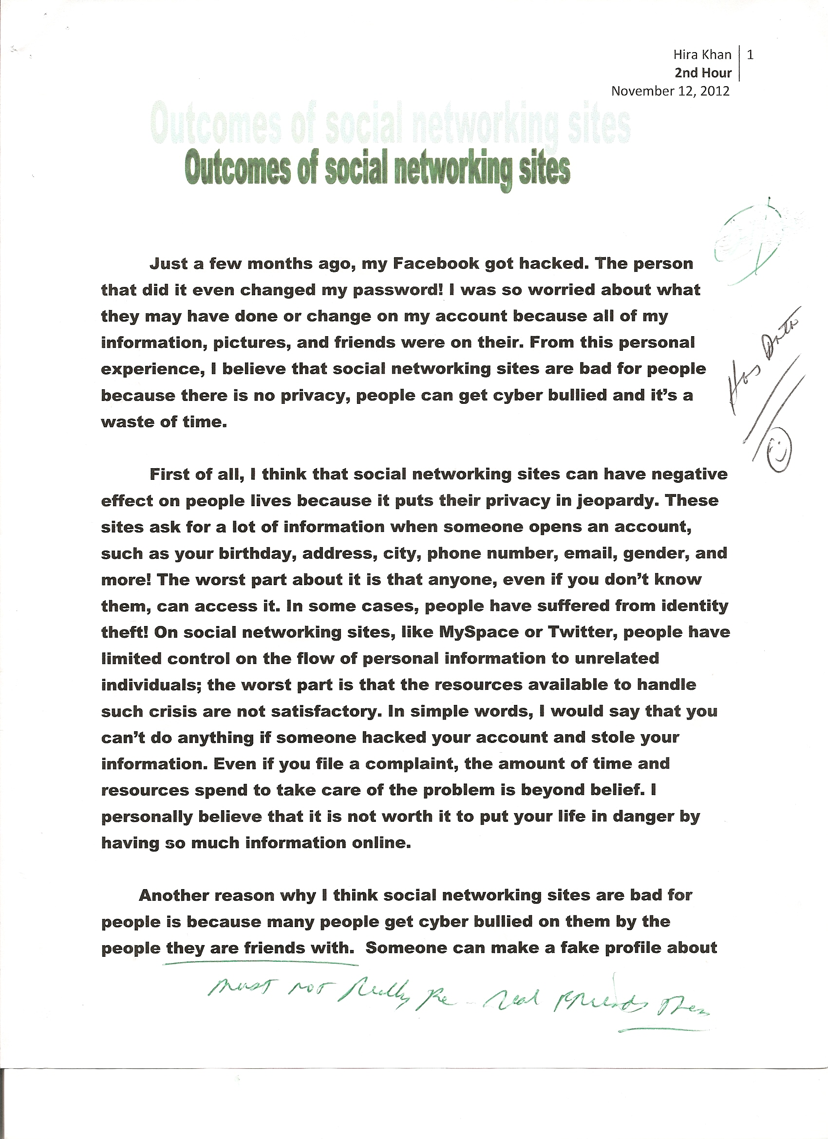 007 Essay Example Social Networking 1 Opinion About Fast Unbelievable Food Is A Good Alternative To Cooking For Yourself An British Council Full
