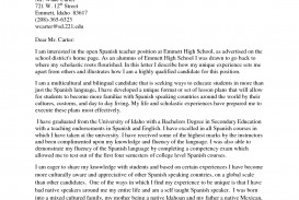 007 Essay Example Spanish Teacher Cover Letter 895528 What Is Imposing In English From Called