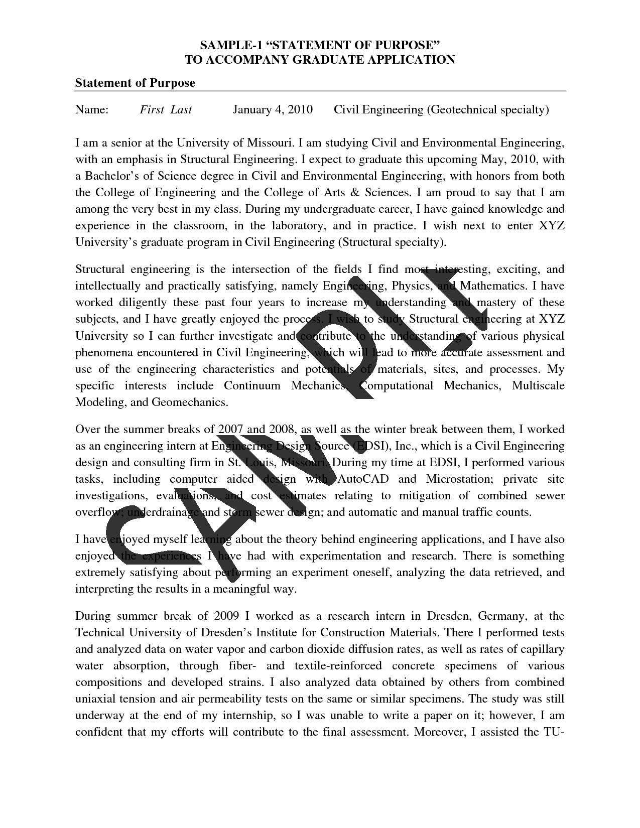 007 Essay Example Statement Of Purpose Graduate School Sample Essays Template Top Examples Mba Nursing Full