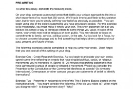 007 Essay Example This I Believe Examples 006667793 2 Stupendous Personal College