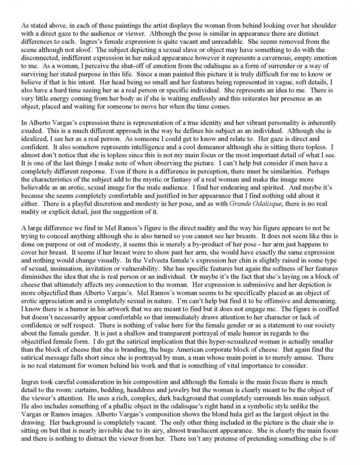 007 Essay Example Visual Examples Of Analysis Essays Outline Movie Visualanalysisfinaldraft P Image Sample Rhetorical Text