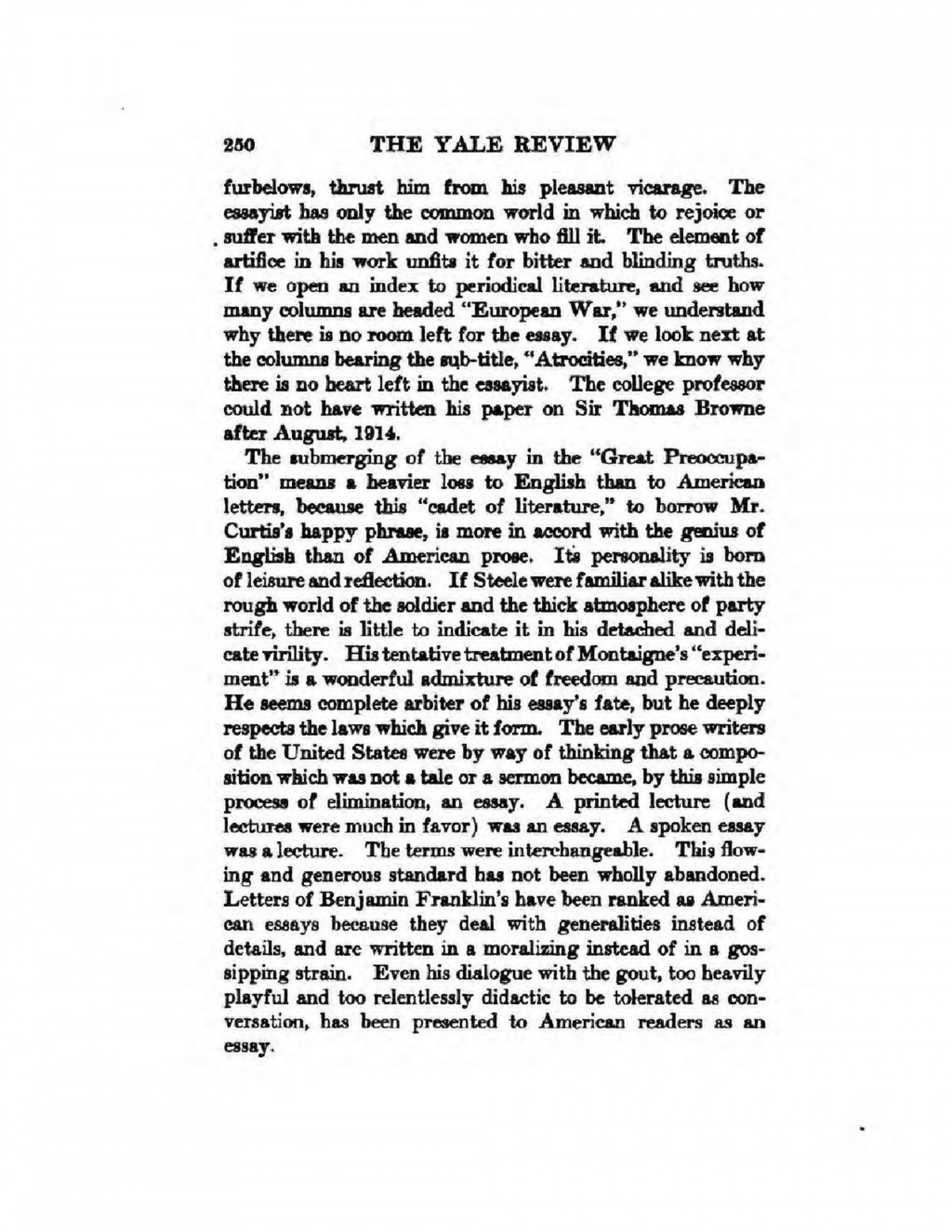 007 Essay Example What Is An American Page2 1024px The In War Time2c Agnes Repplier2c 1918 Stupendous Thesis Your Dream Ideas 1920