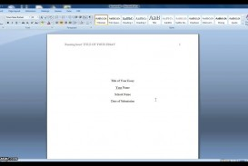 007 Essay Format Apa Example Fantastic Sample 500 Word Cover Page