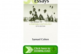 007 Essays 5th Edition Page 1 Essay Imposing 50 Fifty Great Pdf Free A Portable Anthology Ebook