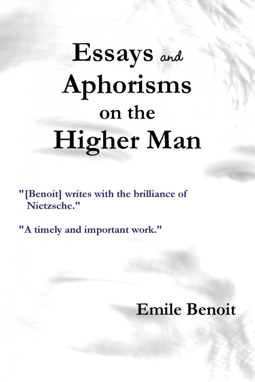 007 Essays And Aphorisms Essay Example Frightening Summary Schopenhauer Wiki