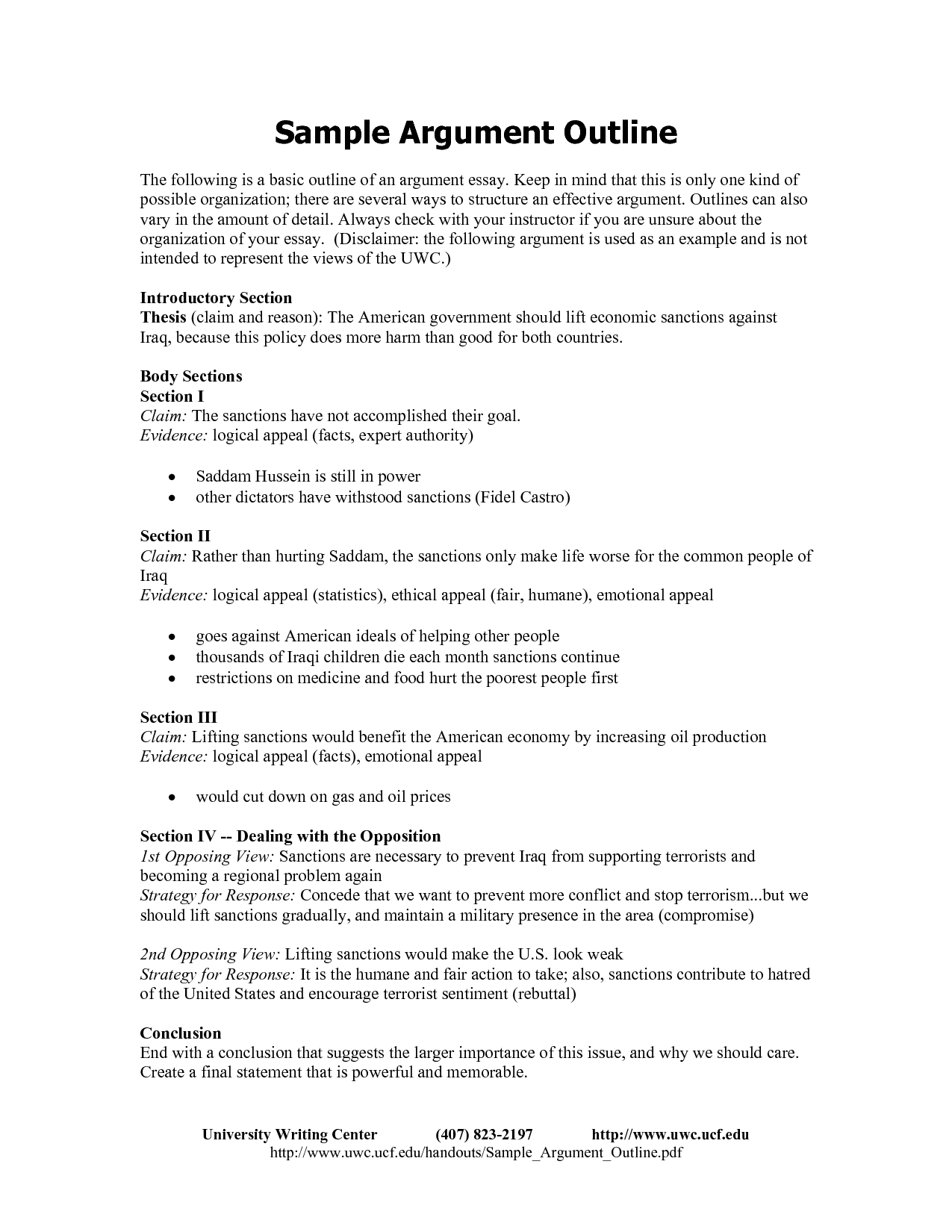 007 example argumentativey outline onneto format for ironviper co