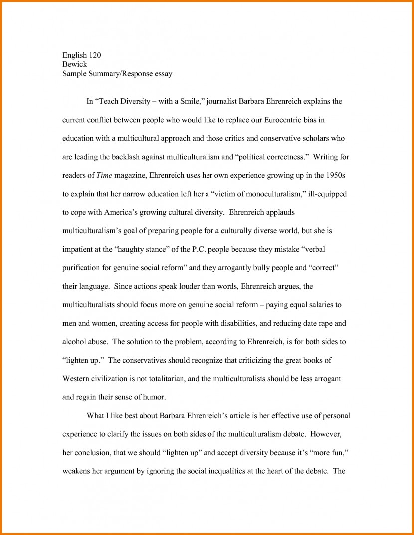 007 Example Of Summary Essays Essayrticlebout The Best Write How To Frightening A Essay Movie Review For College On An Article Introduction Paragraph Full