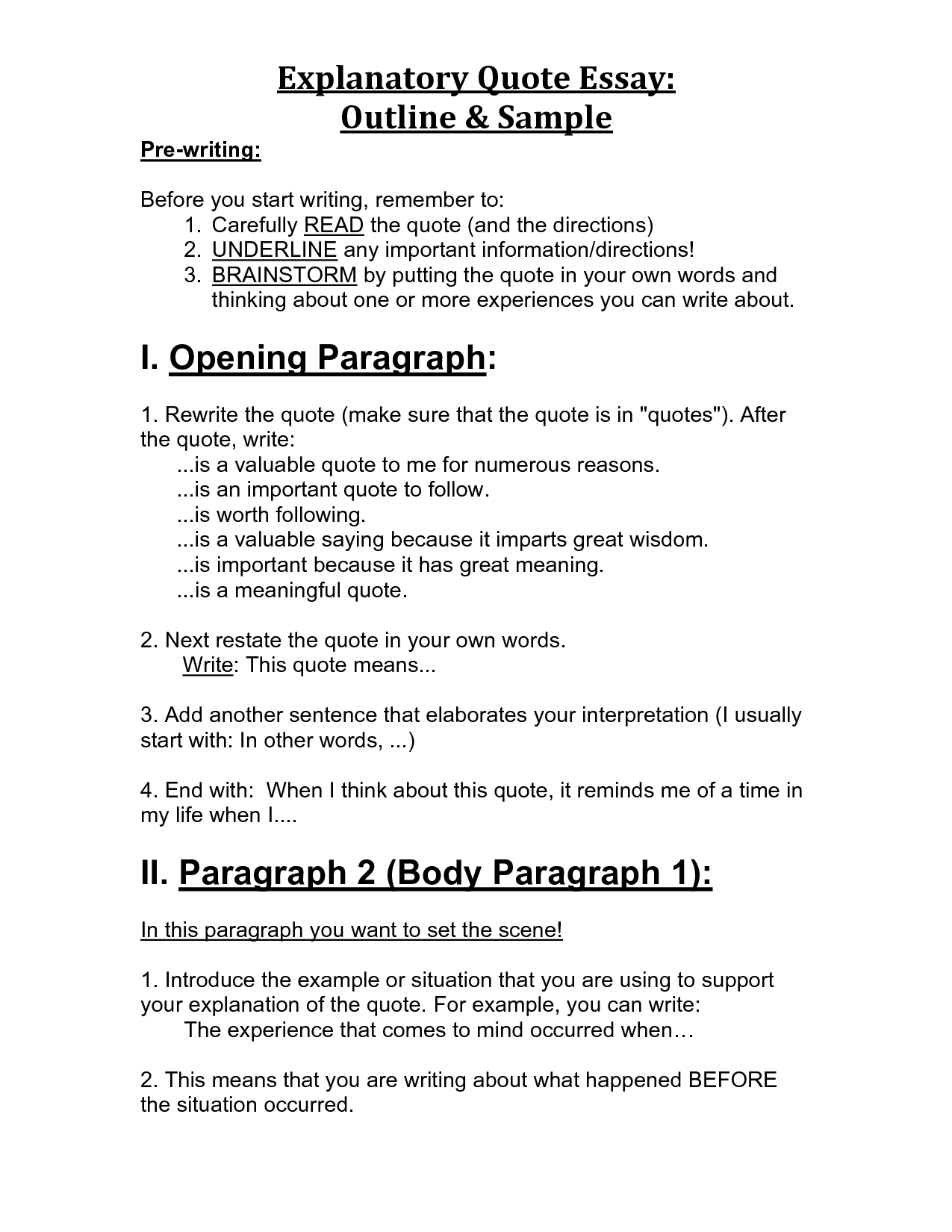 007 Explanation Essay Expository Format High School Common Core Explanatory Of Informativeexplanatory Quote Outlines Examples Informative For Middle Example How To Write Singular An Introduction Full