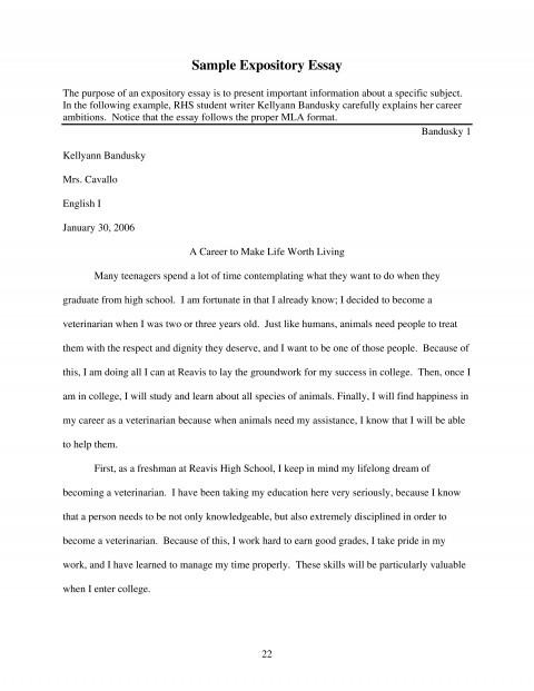007 Expository Essay Sample Page 1 Essays Staggering Examples Topics 7th Grade Staar 5th 480