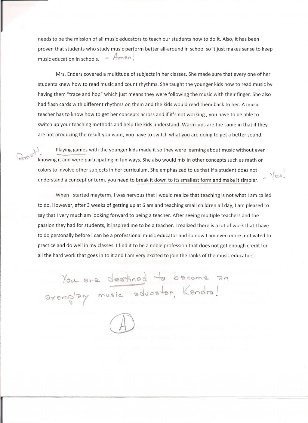 007 Field Experience Community Service Essay Student Essays Best Large