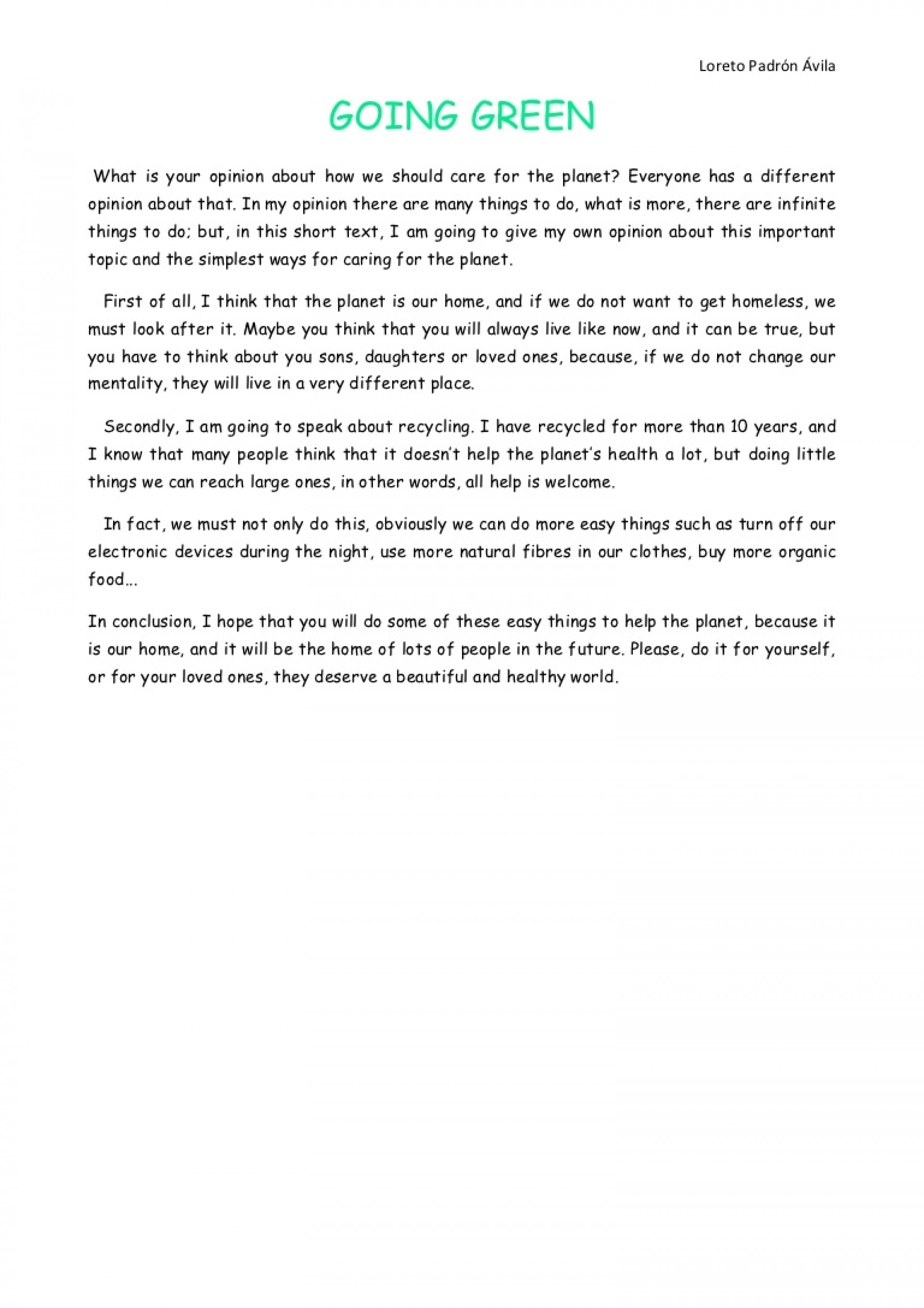 007 Goinggreenloreto Phpapp01 Thumbnail Where Do You See Yourself In Years Essay Sensational 10 U Example 1920