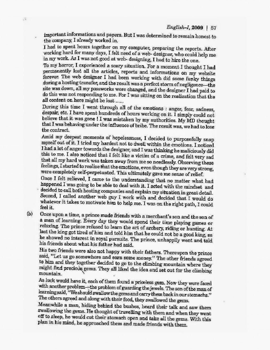 007 Grade English Essays Icse2benglish2bclass2b102b2009 Page Wonderful 12 Essay Examples Narrative Provincial Exam Sample Manitoba Large