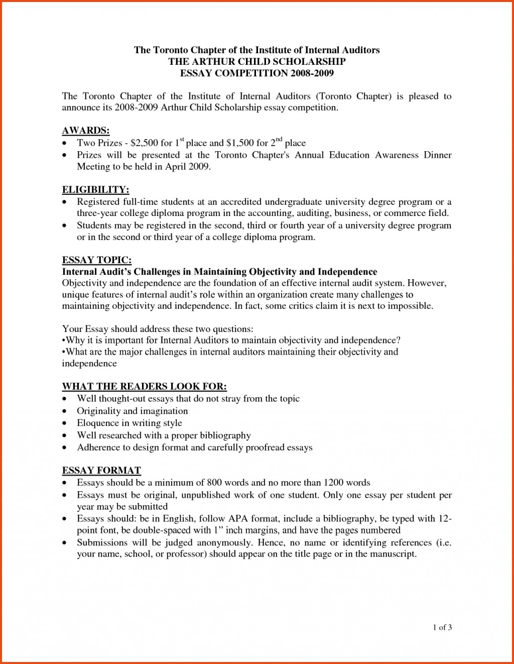 007 How To Format Scholarship Essay Example Sponsorship Letter For Wondrous A Write Template Introduction Outline Large