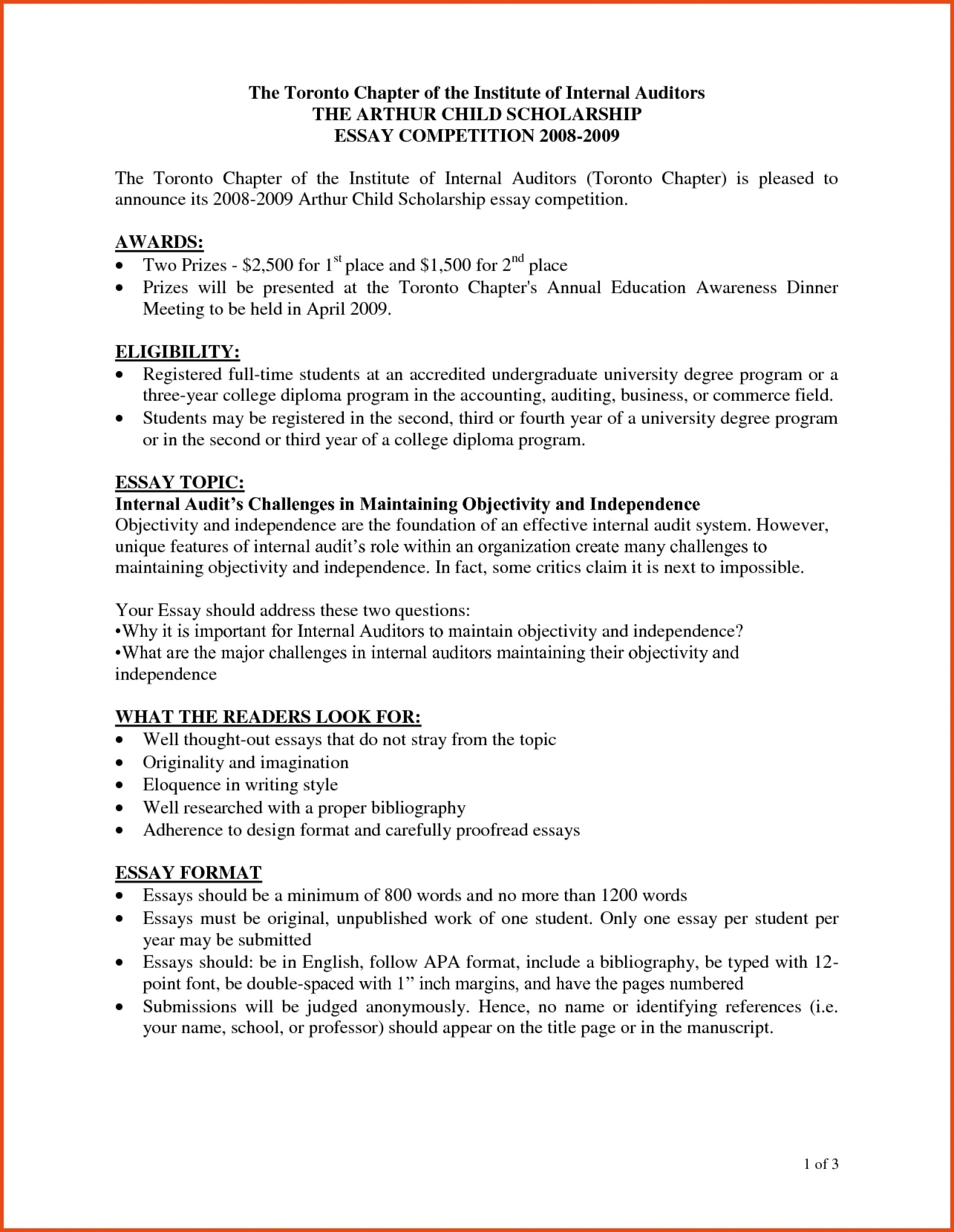 007 How To Format Scholarship Essay Example Sponsorship Letter For Wondrous A Write Template Introduction Outline 1920