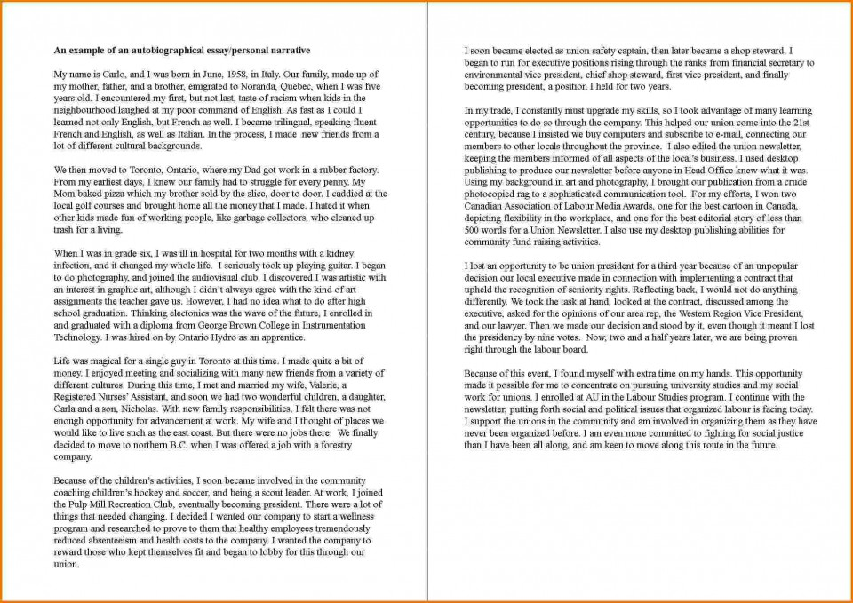 007 How To Writenutobiography Essay Example Exceptional Write A Autobiography An Introduction Autobiographical For College Grad School 960