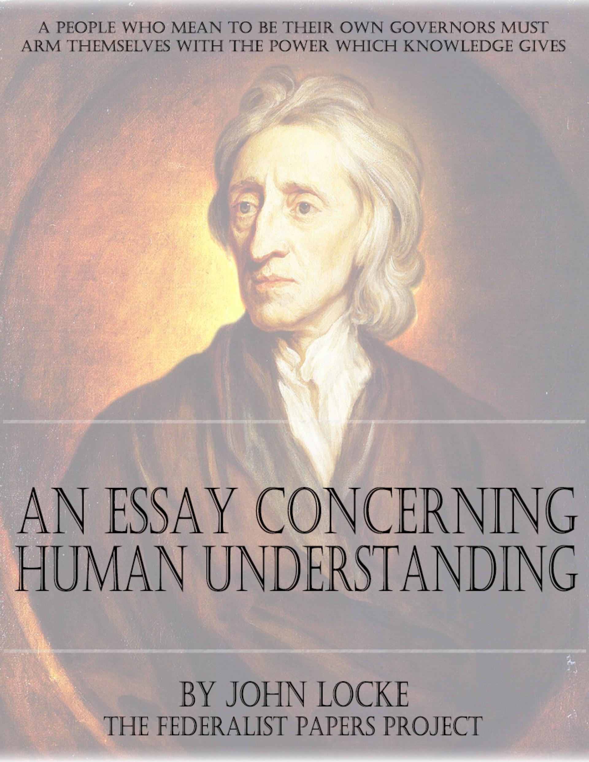 007 John Locke Essay An Concerning Human Understanding Cover Page1 Impressive Book 4 On Pdf Summary 1920