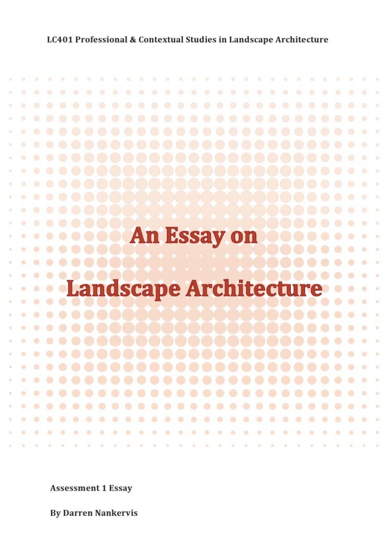 007 Landscape Architecture Essay Example Page 1 Stunning Argumentative Topics Large