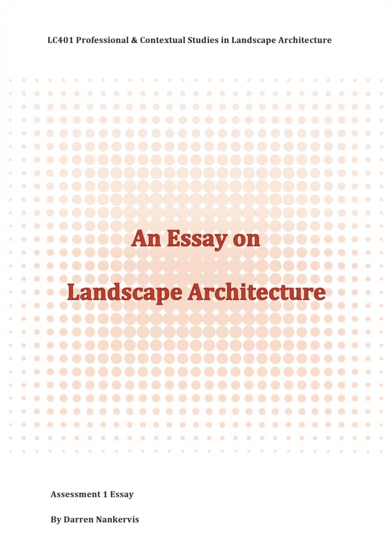 007 Landscape Architecture Essay Example Page 1 Stunning Argumentative Topics 1920