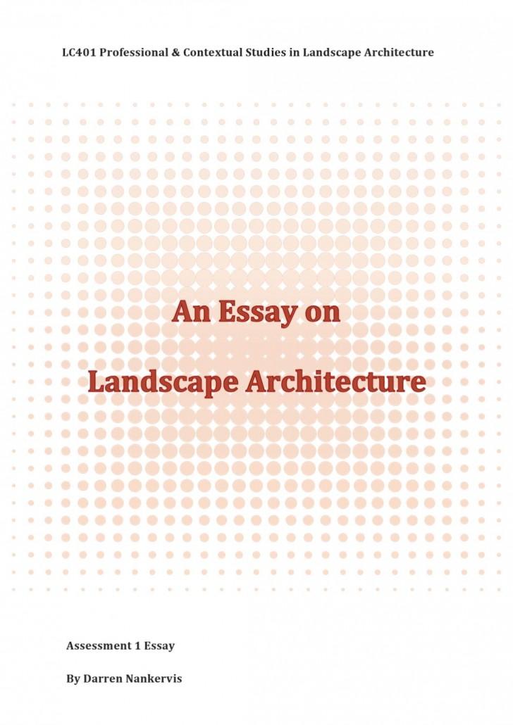 007 Landscape Architecture Essay Example Page 1 Stunning Argumentative Topics 728