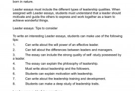 007 Leader Essays Powerful Ideas And Guidelines For Studen Essay On Leadership Students Qualities Sensational In Telugu With Examples