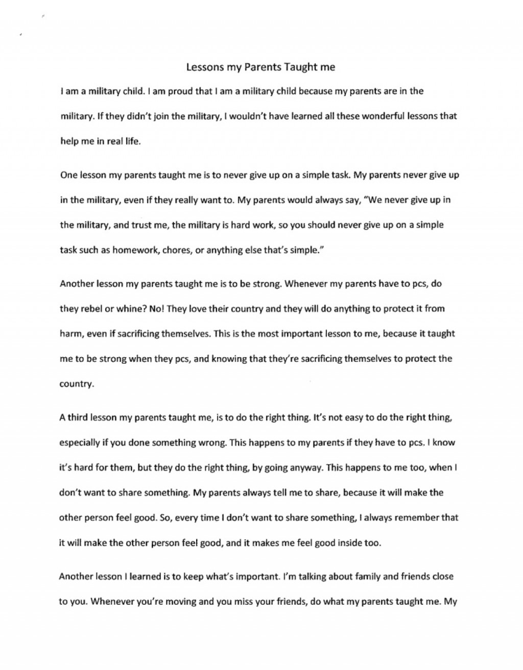 007 Life Lesson Essay Example Formidable Valuable My Life's Greatest Ideas Large