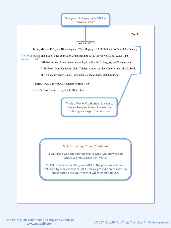 007 Model Mla Paper Essay Example Format Beautiful Sample 2017 Comparison Narrative Large
