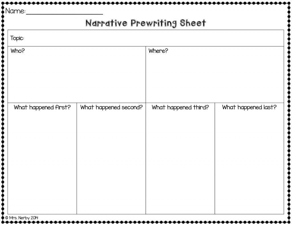 007 Narrative Essay Graphic Organizer Narrative2bpw2bsheet2bpic Incredible Middle School Pdf Story Large