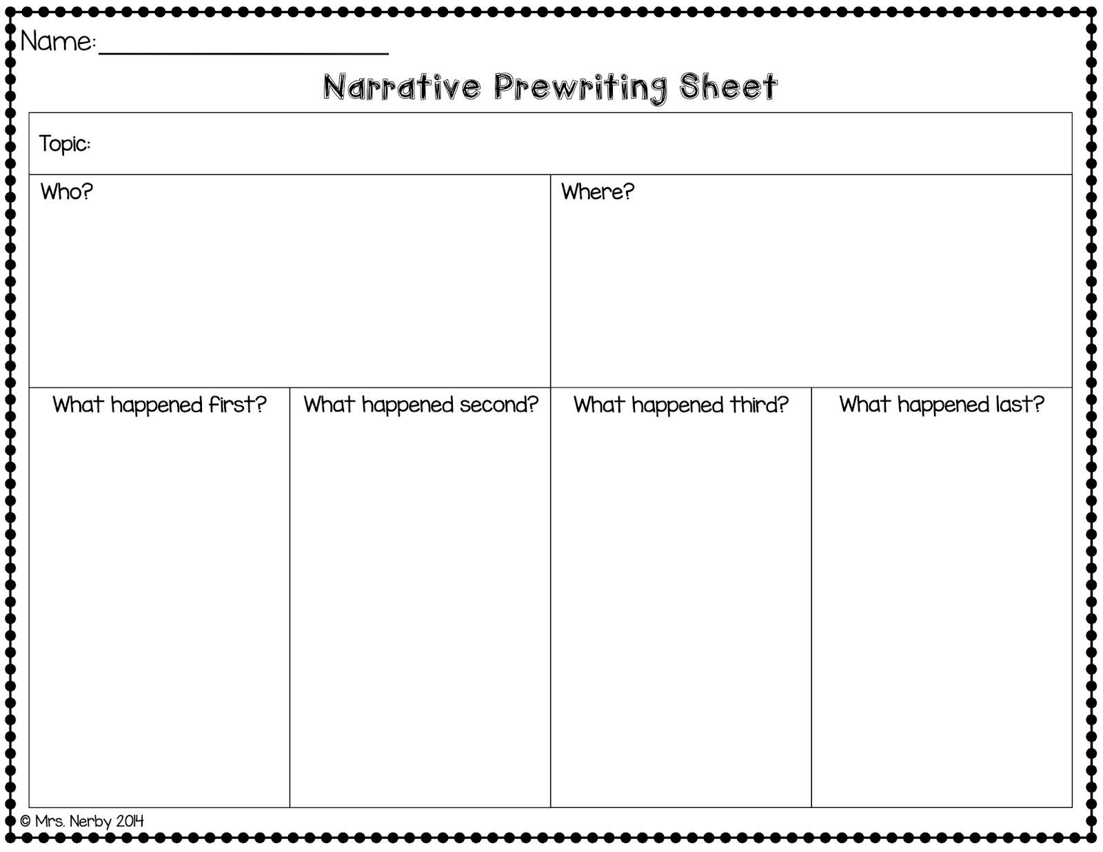 007 Narrative Essay Graphic Organizer Narrative2bpw2bsheet2bpic Incredible Middle School Pdf Story Full