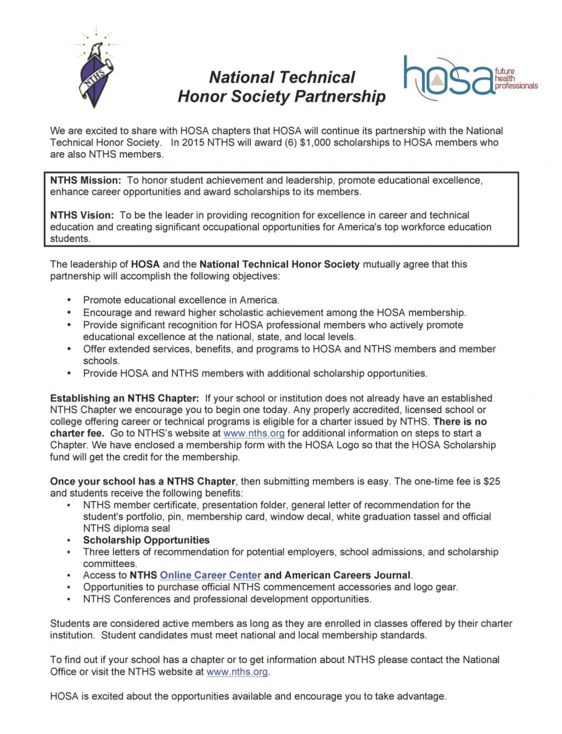 007 National Junior Honor Society Essay Example Cover Letter Nths Page 1 Template Outstanding Application Structure High School Examples 1920
