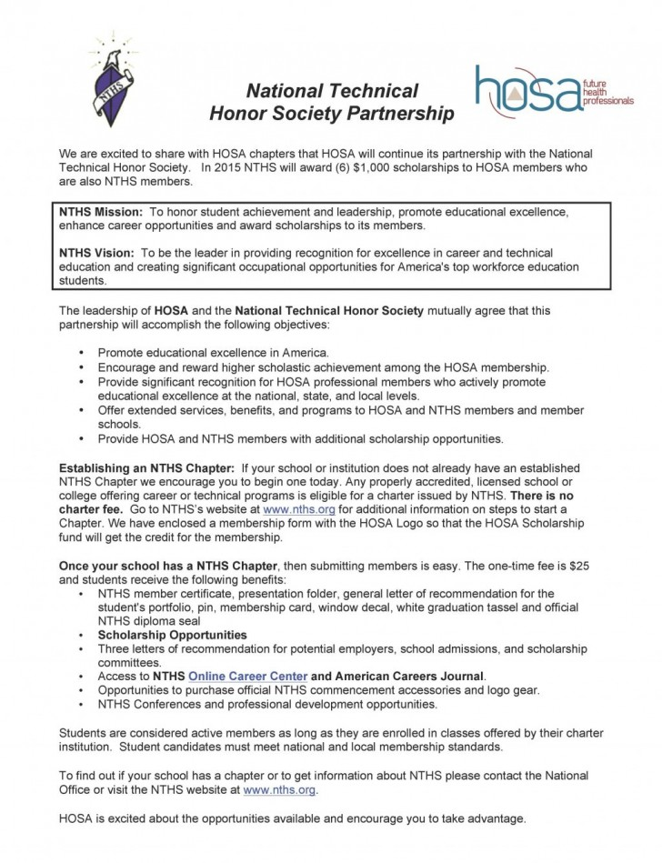 007 National Junior Honor Society Essay Example Cover Letter Nths Page 1 Template Outstanding Topics Questions Samples 728