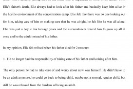 007 Night By Elie Wiesel Essay Example Fearsome Examples Conclusion