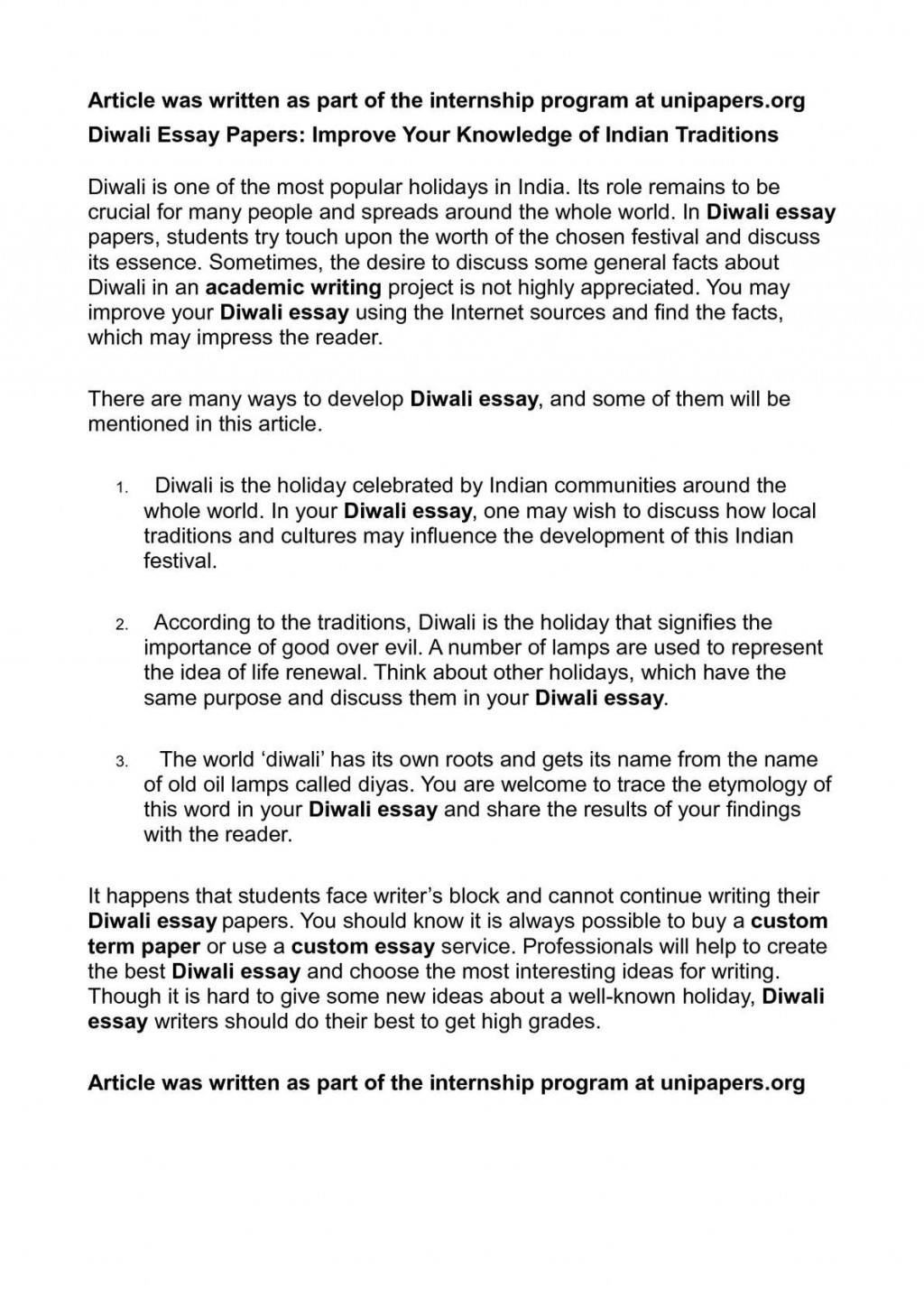 007 P1 Simple Essay On Diwali Striking For Class 1 My Favourite Festival Large
