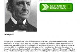007 Page 1 Self Reliance And Other Essays Essay Formidable Ralph Waldo Emerson Pdf Ekşi