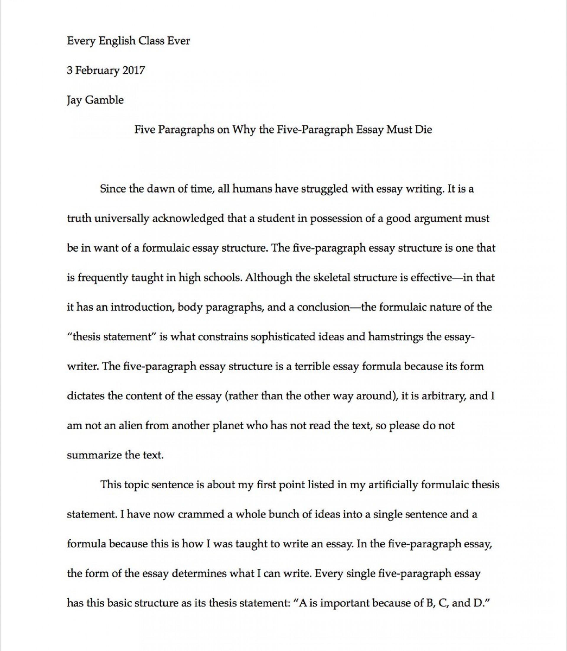 007 Paragraph Essay C3xanfgumaav1io Exceptional 3 Example Elementary Outline 1920