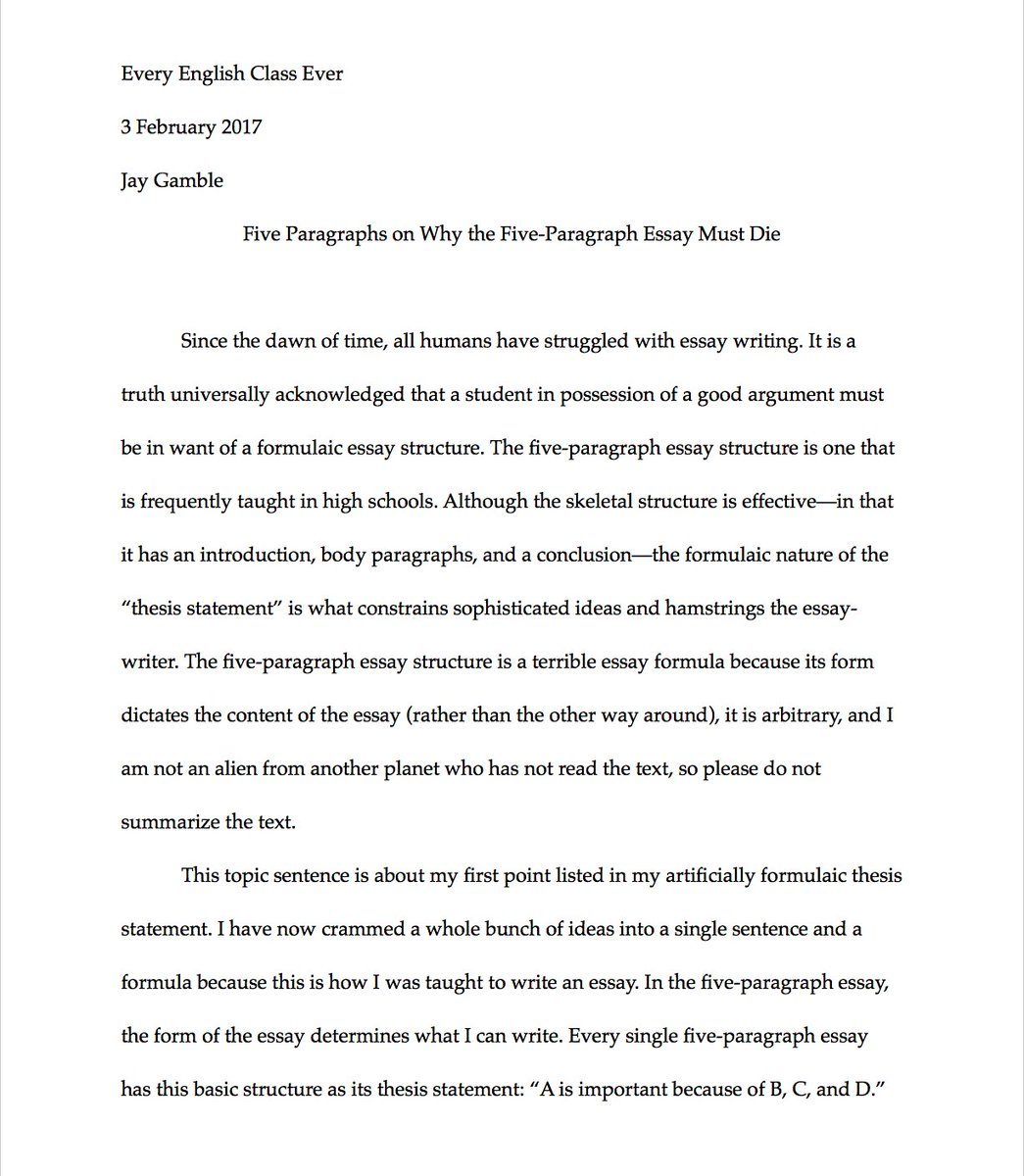 007 Paragraph Essay C3xanfgumaav1io Exceptional 3 Example Elementary Outline Full