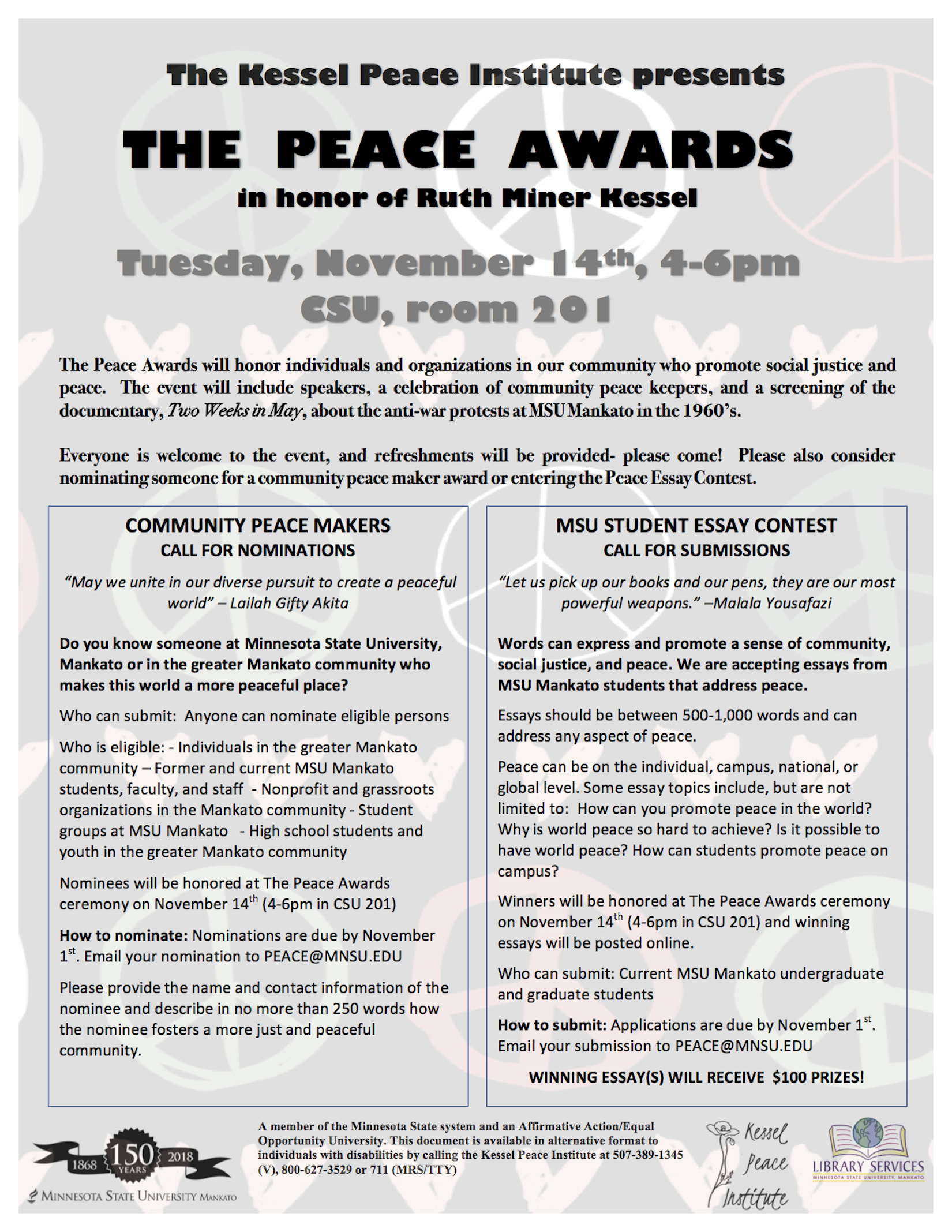 007 Peace Essay Example Awards Flyer Rare In Simple English Contest 2019 Topics Full