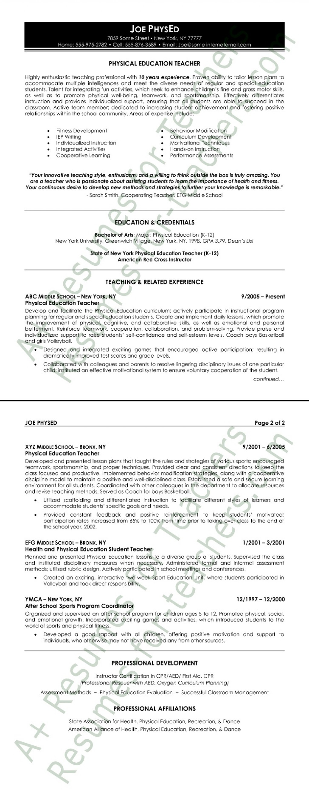 007 Physical Education Resume Sample Studymode Word Essay On Accountability In The Army Formidable 1000 Importance Of Large
