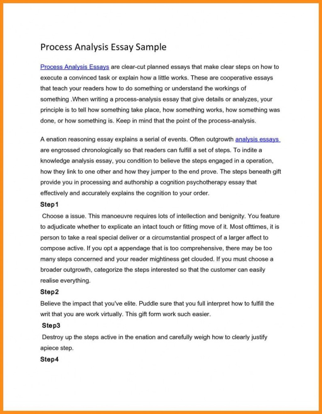 007 Process Analysisssay Sample Paper Writing Agenda Conclusionxamplesxample Pdf Informational And Topics Thesis How To Plan Party Introduction Free Recipe What Is Unusual A Essay Complex Good Analysis Topic Description Large