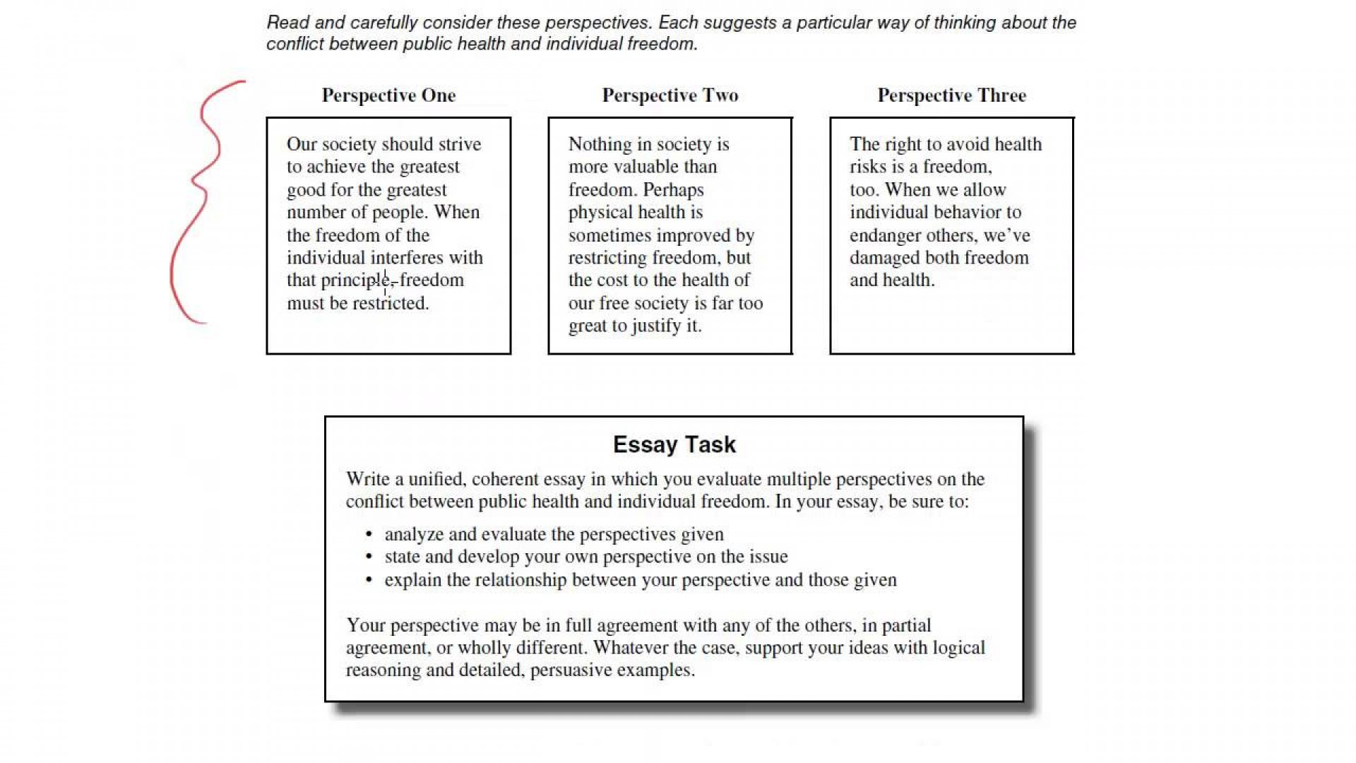 001 essay example public health and individual freedom act examples