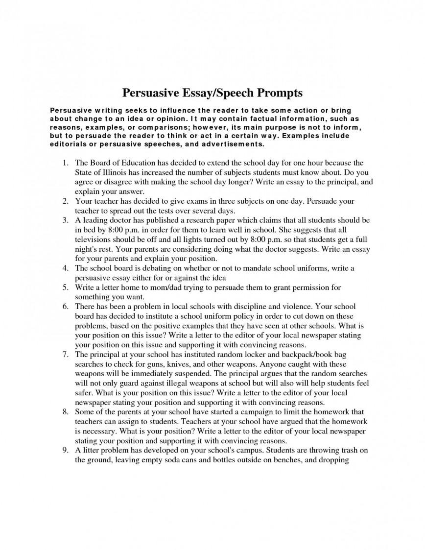 007 Pursuasive Essay Example Persuasive Writing Prompts High School Students Argumentative Speech Topics For Sample Good Stirring Graphic Organizer 5th Grade Definition Rubric Elementary