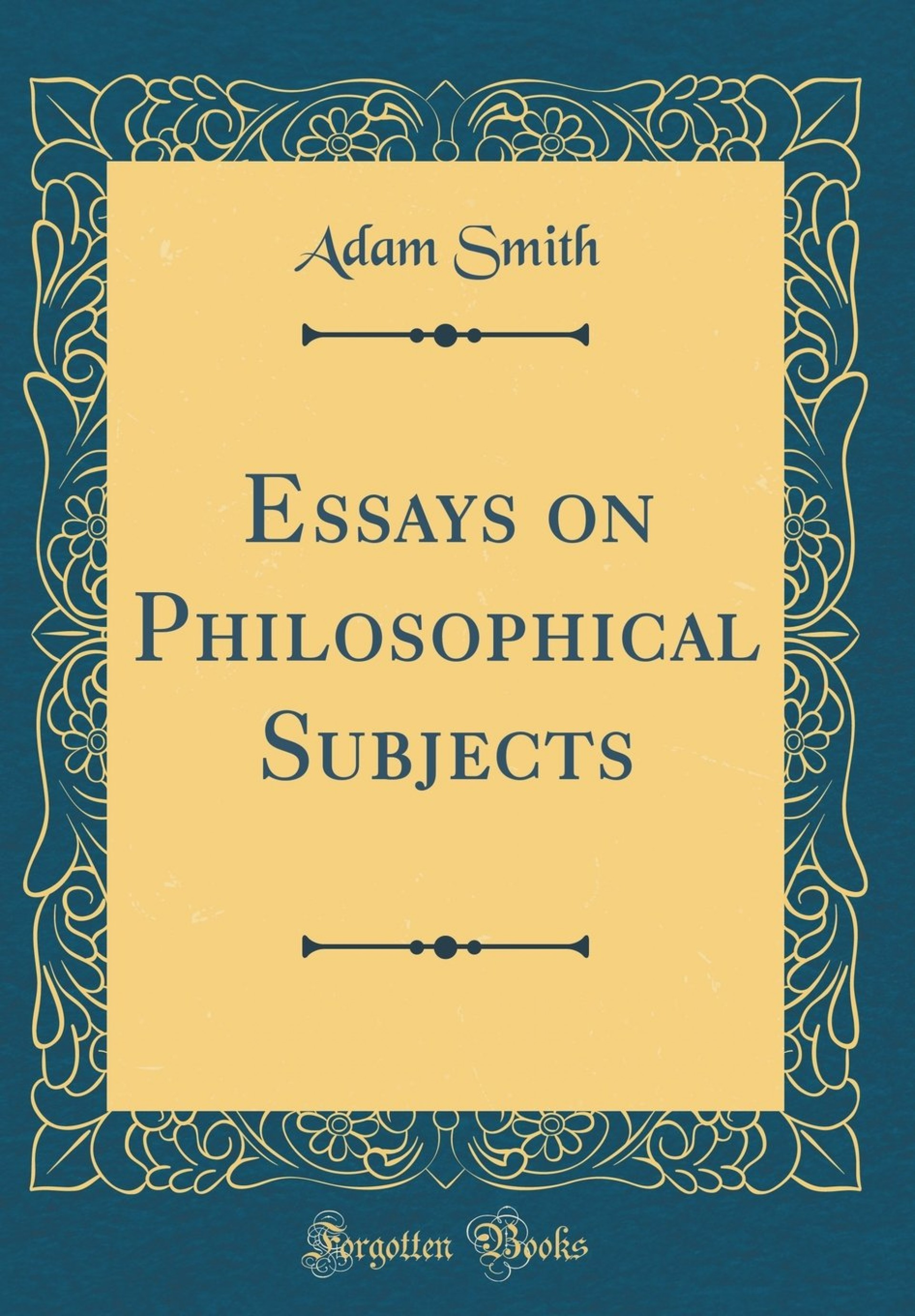 007 Rddwarl Essays On Philosophical Subjects Essay Best Summary Adam Smith 1920